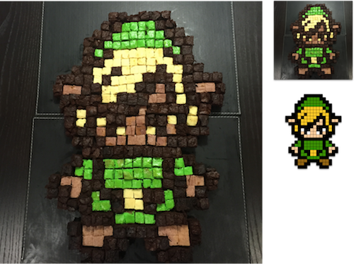 8-bit link in brownies
